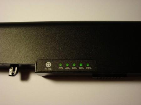 El módulo de batería con el indicador de carga