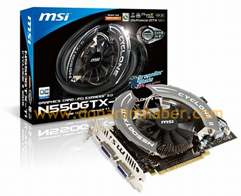 MSI GeForce GTX 550 Ti Cyclone II revelada
