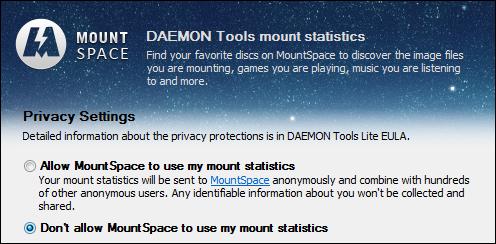 Daemon Tools está recopilando información sobre las imagen