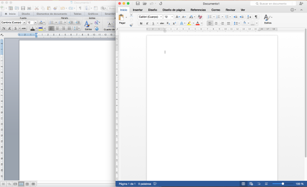 Office 2011 vs Office 2016