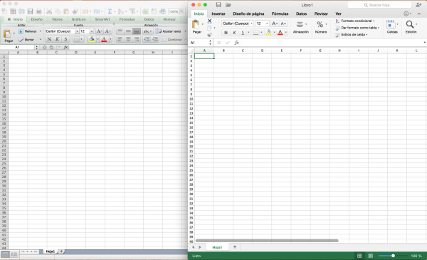Excel Office 2011 vs Office 2016