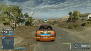 En modo Hotwire debes conducir lo mas rápido posible para acabar con los puntos del enemigo, peor cuidado con chocar, podrás ser una presa fácil para las granadas