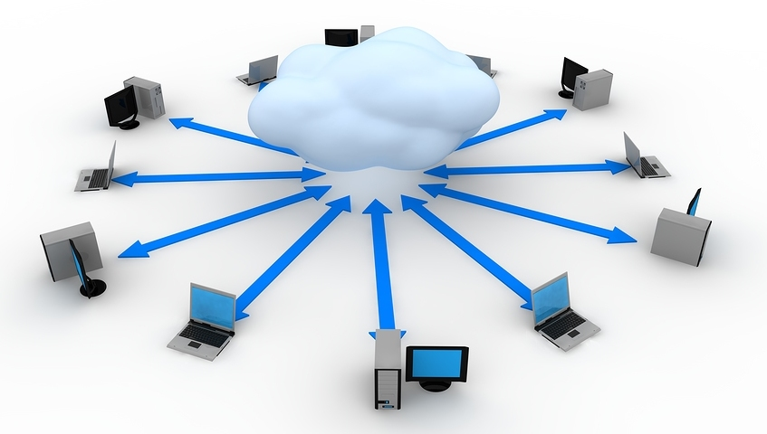 Image of  Cloud Computing Concept in 3D style